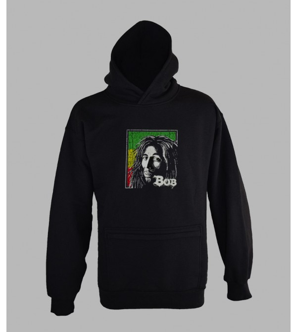 SWEAT BOB MARLEY, VÊTEMENT HOMME. PULL A CAPUCHE BOB MARLEY HOMME - FRINGUE PAS CHER