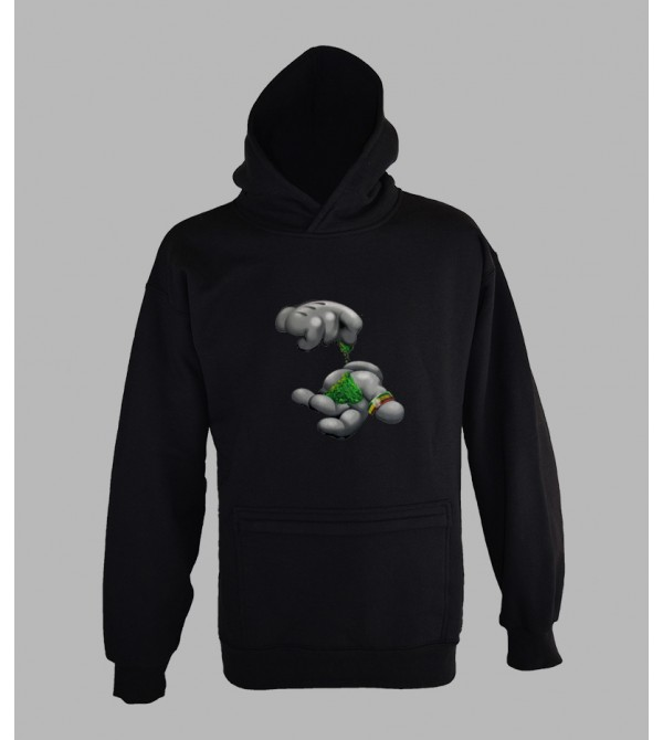 SWEAT SMOKING WEED, VÊTEMENT HOMME. PULL A CAPUCHE SMOKING WEED - FRINGUE BOB MARLEY