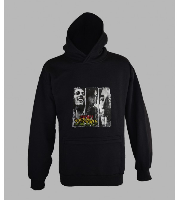 SWEAT BOB MARLEY ONE LOVE, VÊTEMENT HOMME. PULL CAPUCHE BOB MARLEY - FRINGUE PAS CHER