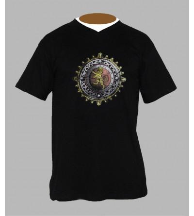 T-shirt rasta homme Col V