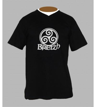 T-shirt breton homme Col V '' BzH ''