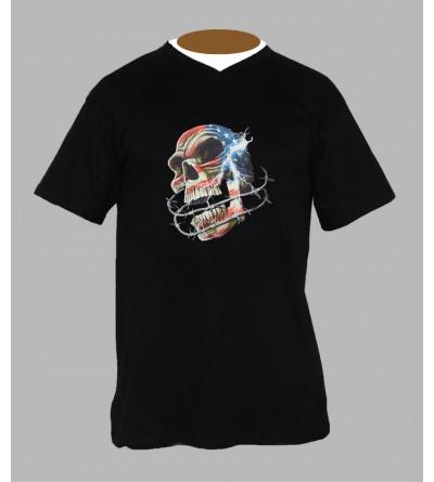 T-shirt underground, sound system, fringue de teuf, free party, rave, electro, techno, tekno, electro  tete de mort a73