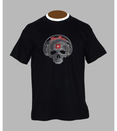 T-shirt tete de mort play music - Vêtement homme