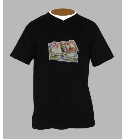 Tee shirt trance monnaie homme Col V