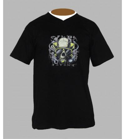 T-shirt underground, sound system, fringue de teuf, free party, rave, electro, techno, tekno, electro  tete de mort b23