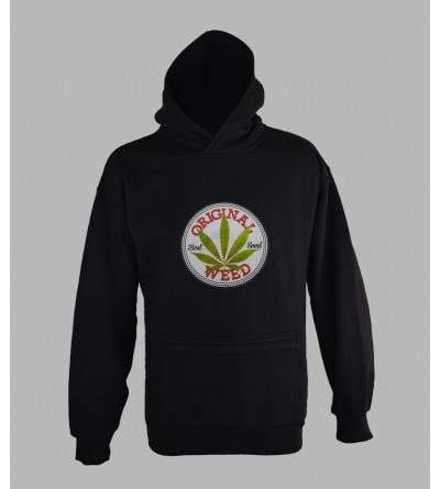 SWEAT WEED 420, VÊTEMENT HOMME. PULL A CAPUCHE WEED 420- FRINGUE PAS CHER