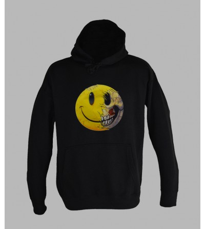 SWEAT SMILEY, ACHAT ET VENTE DE PULL A CAPUCHE SMILEY HOMME fringue teuf free party rave tekno sweat techno vetement 663