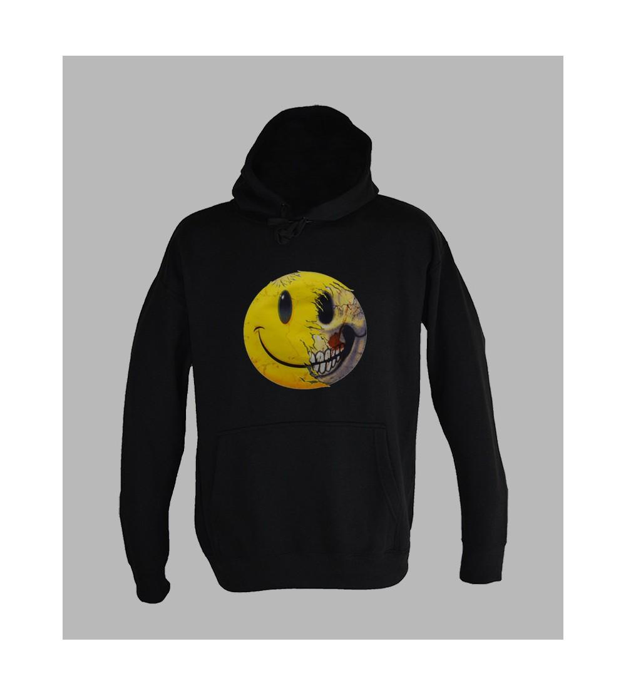Sweat Smiley Achat et vente pull capuche smiley hardcore