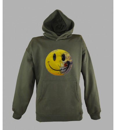 SWEAT SMILEY PAS CHER - ACHETER PULL A CAPUCHE SMILEY HOMME - fringue teuf free party rave tekno sweat techno vetement 662