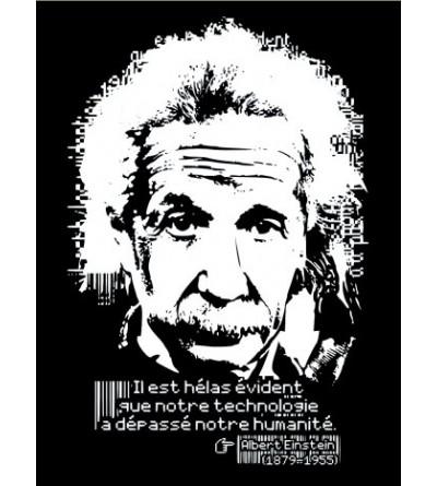 logo Sweat capuche femme Albert Einstein