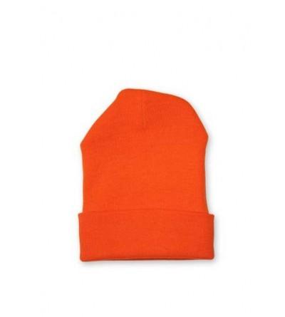 Bonnet homme orange fluo
