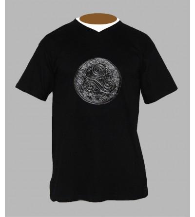 T-shirt breton triskel homme Col V