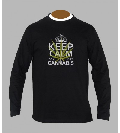 T-shirt cannabis homme manches longues