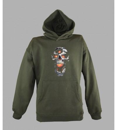 fanandmore Sweatshirt capuche T/ête de mort noir