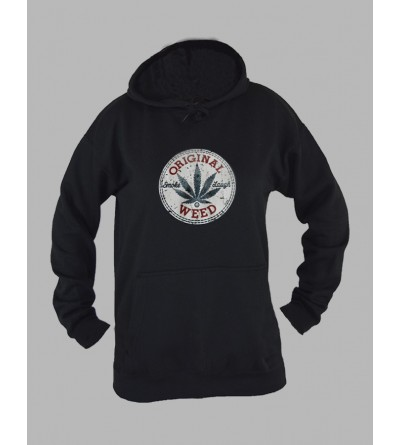 Sweat capuche femme weed