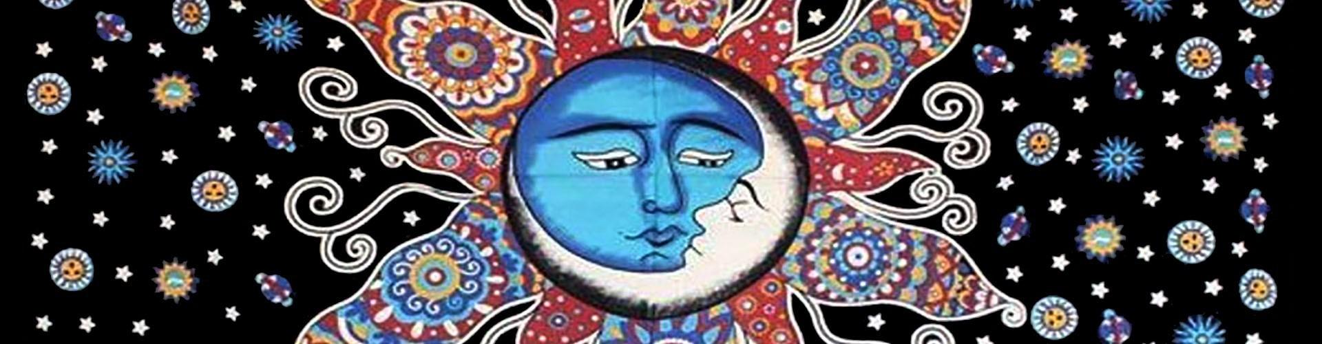 Tenture Soleil & Lune les astres en déco acheter tenture lune soleil