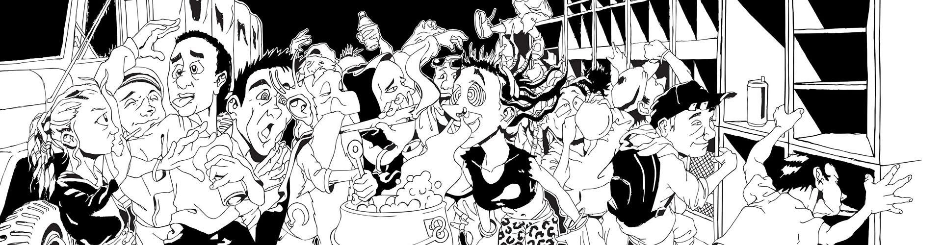 Tenture Sound System dans l'univers de la teuf, free-party rave