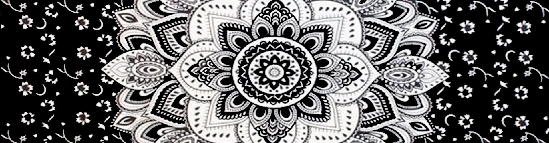 Tenture Mandala pour rester zen, tenture mandala ethnique indienne